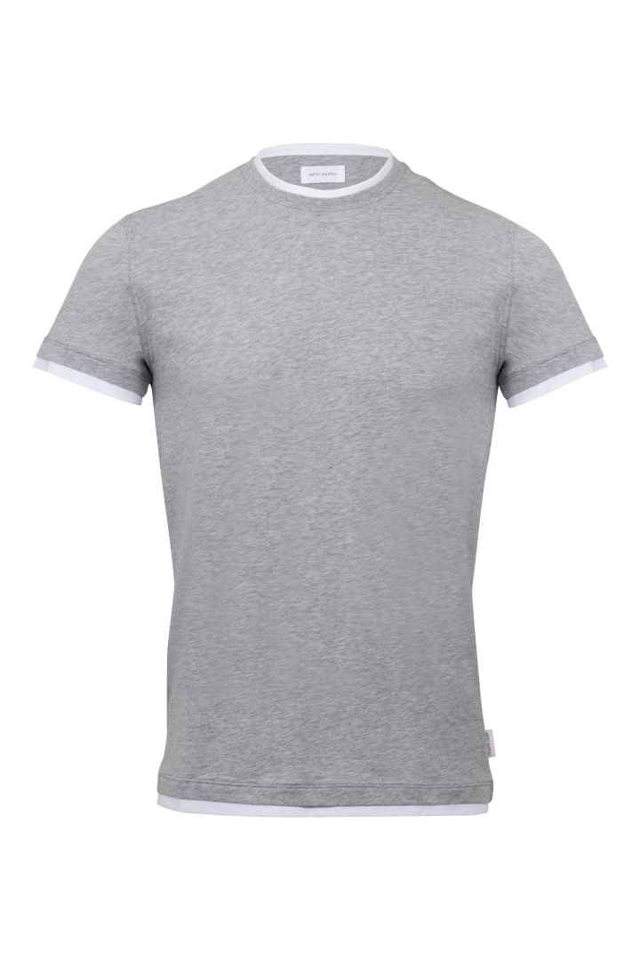 T-shirt round contrast
