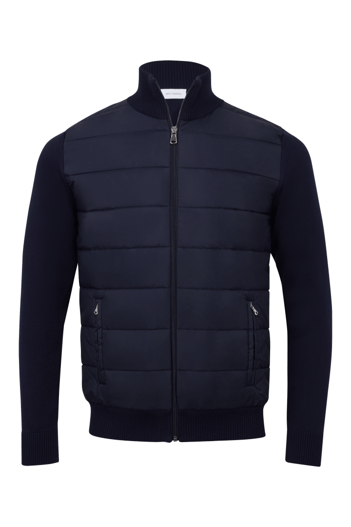 Cardigan nylon zip