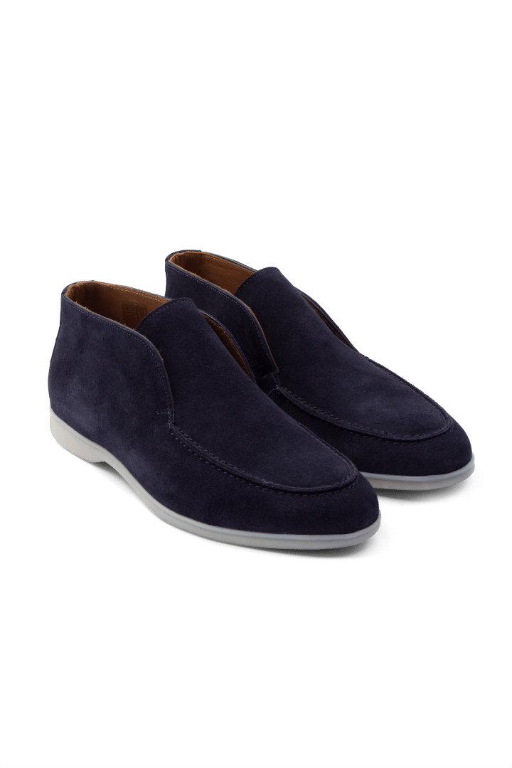 Suede loafer high